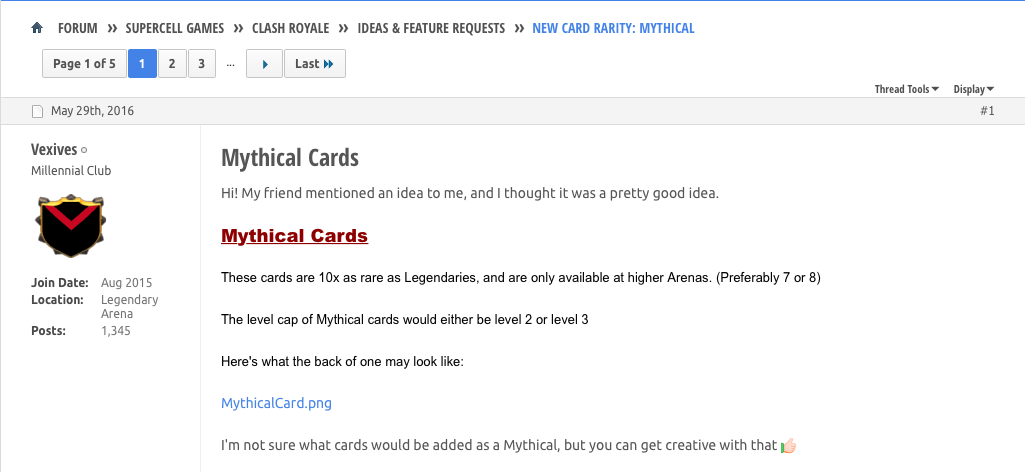 Скриншот мифической карты Clash Royale