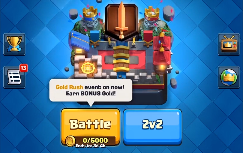 Gold Rusn Battle Clash Royale