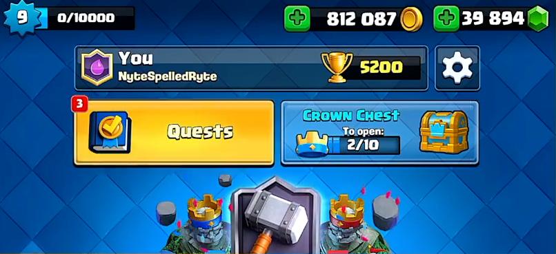 Квесты/ Quests - новая кнопка в Clash Royale