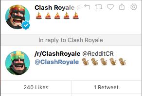Смайлики про обновление Clash Royale