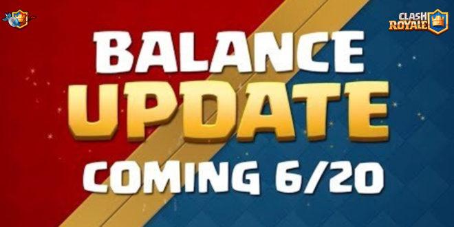 Изменение баланса в Clash Royale 20.06.2018